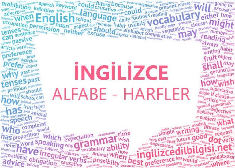 İngilizce Alfabe – İngilizce Harfler