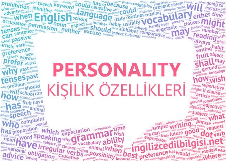 İngilizce Kişilik Özellikleri – Personality