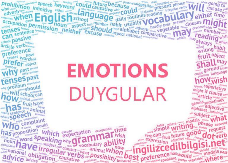 İngilizce Duygular – Emotions
