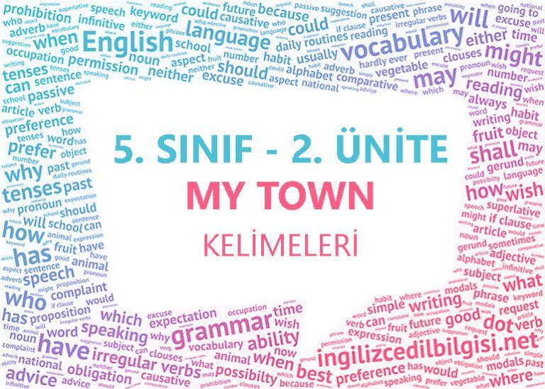 5. Sınıf İngilizce 2. Ünite My Town Kelimeleri