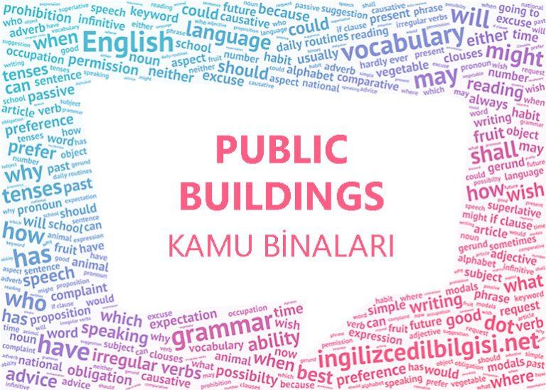 İngilizce Kamu Binaları – Public Buildings