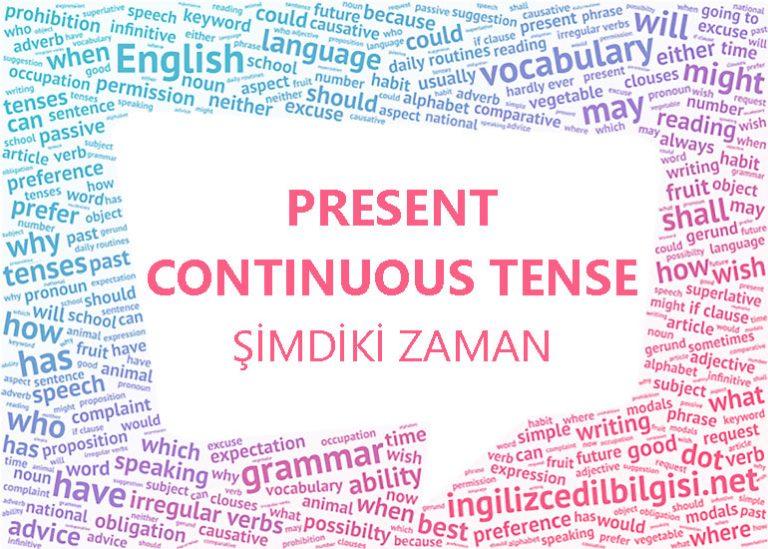 İngilizce Şimdiki Zaman – Present Continuous Tense