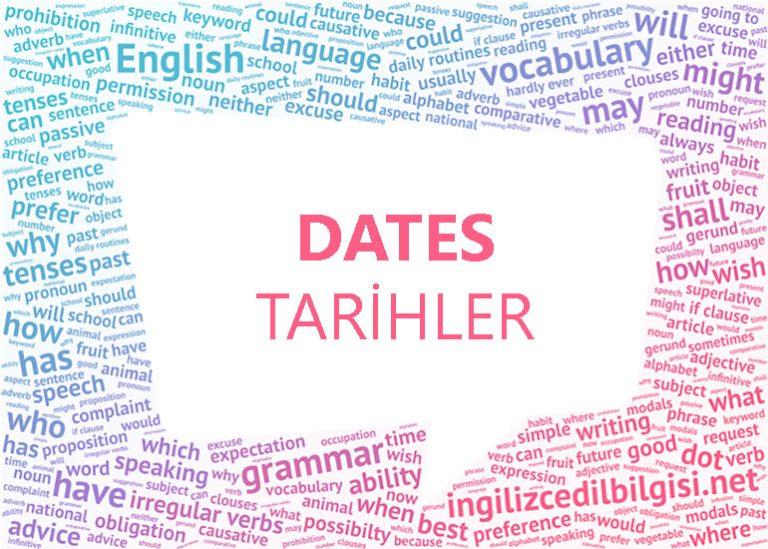 İngilizce Tarihler – Dates