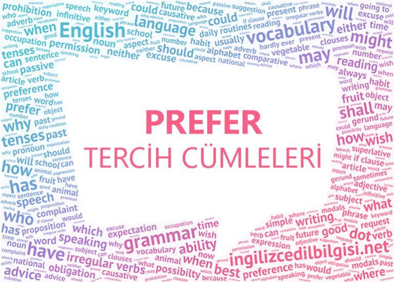 İngilizce Tercih Cümleleri – Prefer