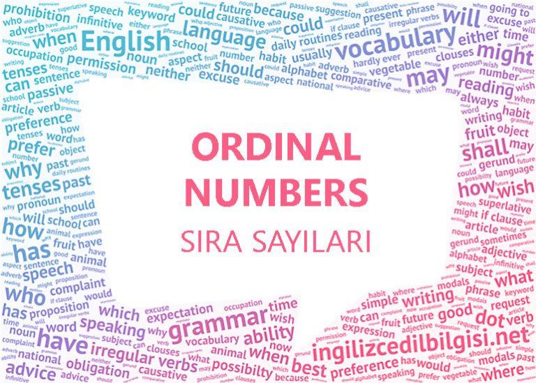 İngilizce Sıra Sayıları – Ordinal Numbers